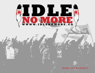"""Worldwide Day of Action Called by """"Idle No More"""" Peace Movement Idle-no-more"""