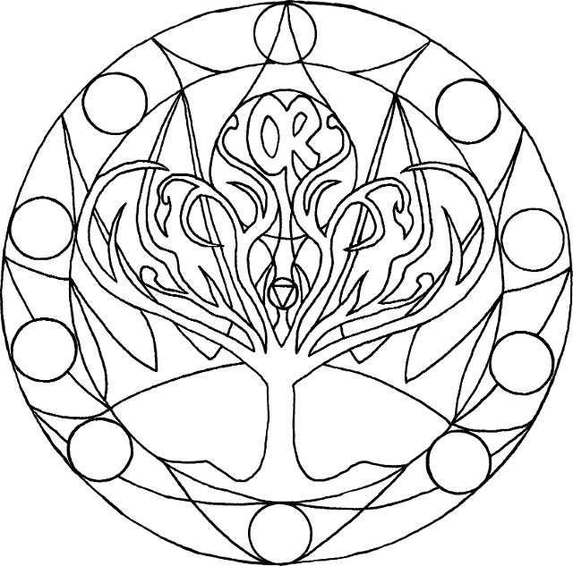 chakra mandala printable coloring pages - photo#3