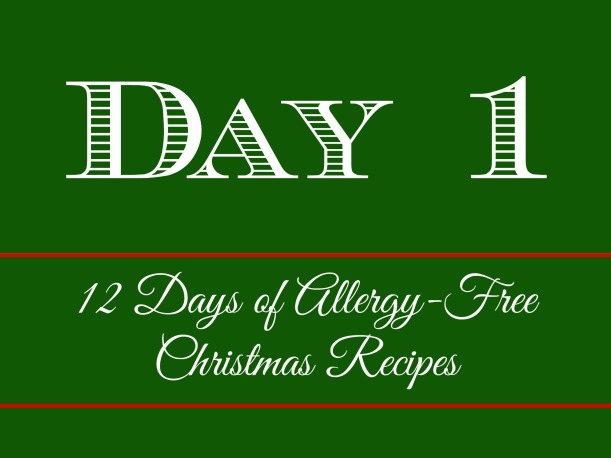 Day 1 of 12 Days of Allergy-Free Christmas Recipes